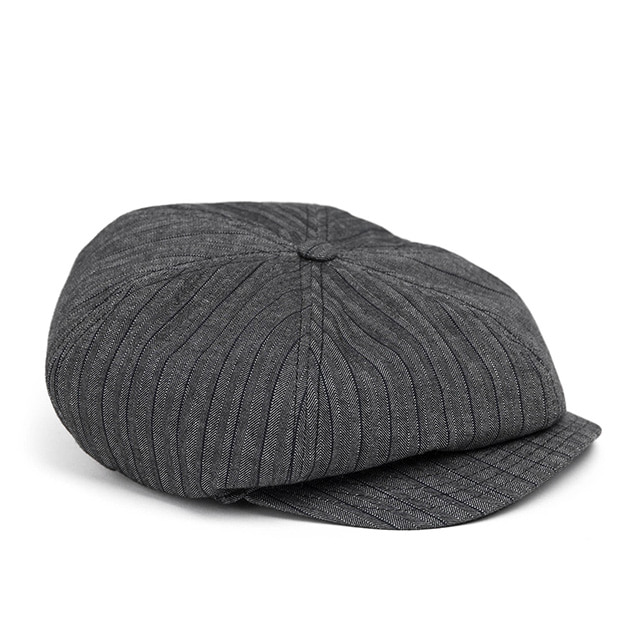 와일드브릭스HBT STRIPE NEWSBOY CAP (grey)